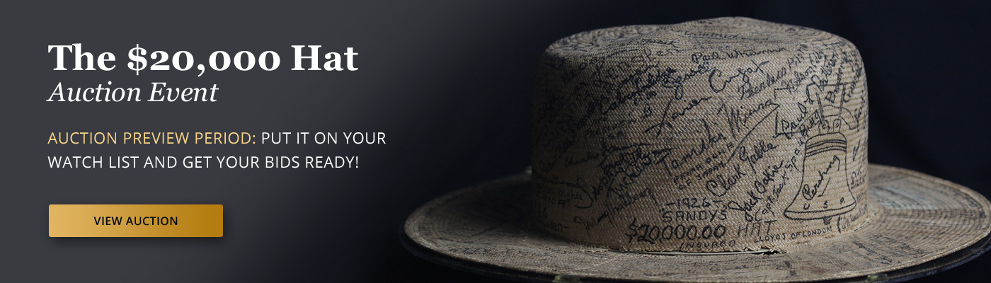 The $20,000 Hat Auction Event - Preview Now