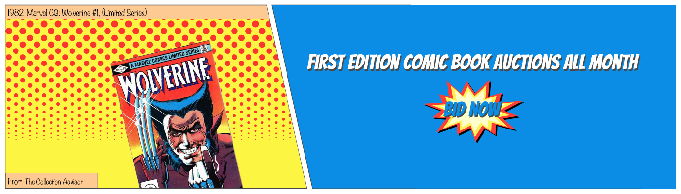 MERCHANT: Month Of Firsts Comic Book Promo; The Collection Advisor - Auction Feature 1