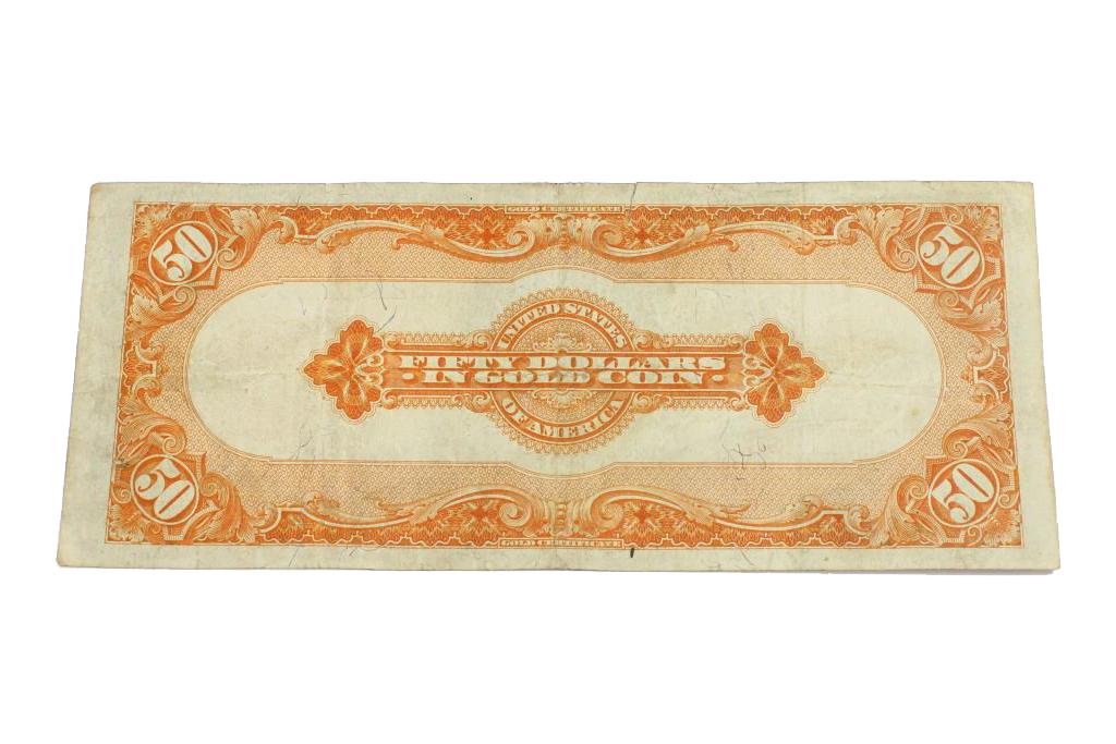 1922 $50 Gold Certificate