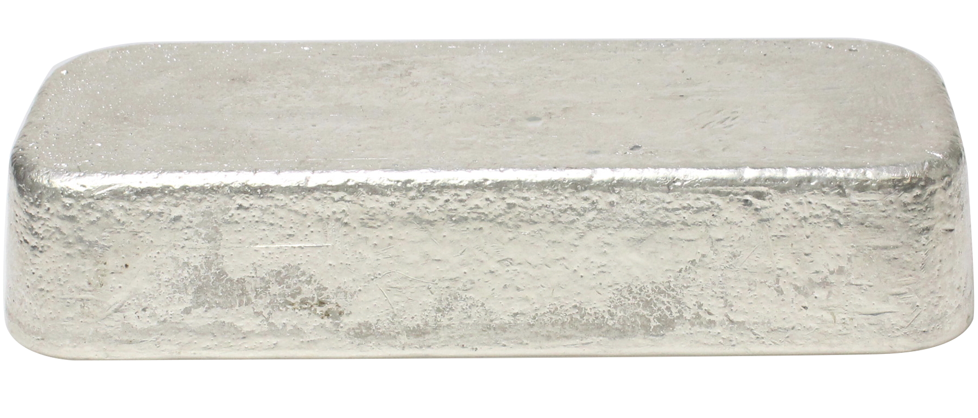 100oz silver bar, front