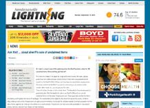 Hendersonville lightning article screenshot