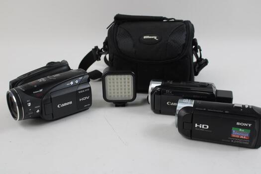 Canon Hv30 , Sony  Cx440 And Canon Hfr30  Video Camera