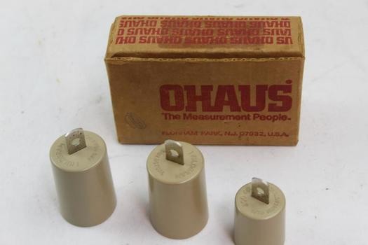 Ohaus Cylinder Weights 3 Pieces
