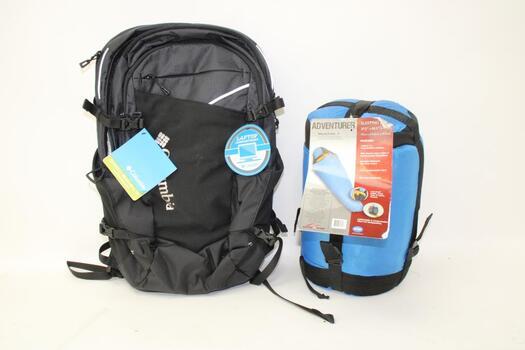 Suisse Sport Adventurer Sleeping Bag And  Columbia Backpack