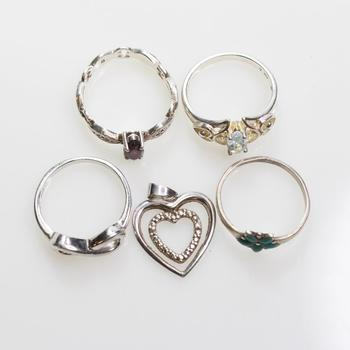 10.44g Silver Jewelry, 5 Pieces