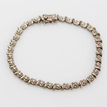 10g Gold-toned Silver Bracelet