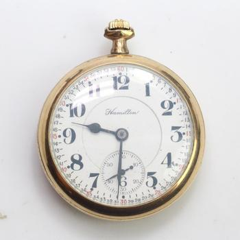10k GF Hamilton Pocket Watch