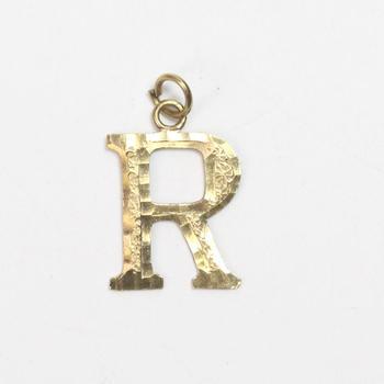 "10k Gold 1.01g ""R"" Pendant"