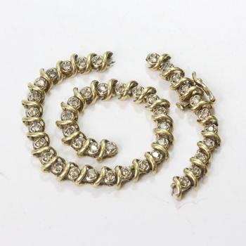 10k Gold 10.87g Bracelet With Diamonds