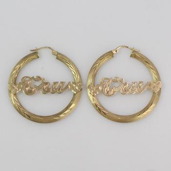 10k Gold 5.05g Hoop Earrings