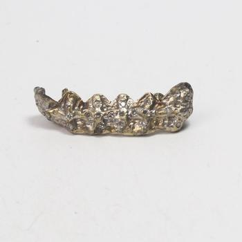 10k Gold 5.93g Dental Grill With Clear Stones