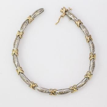 10k Gold 8.11g Bracelet With Diamonds