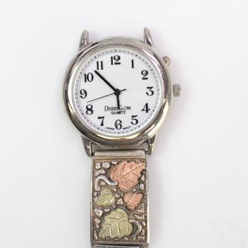 10k Gold And Silver Watch Tips On Desert Glow Quartz Watch