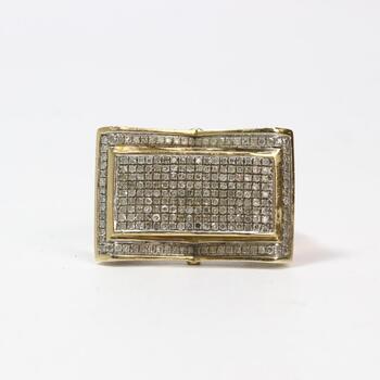 10k Gold Diamond Ring 8.3g