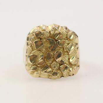 10k Gold Raw Nugget Ring