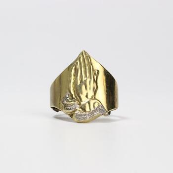 10k Gold Religious Ring 4.4g