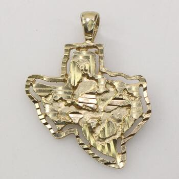 10k Gold State Of Texas Pendant