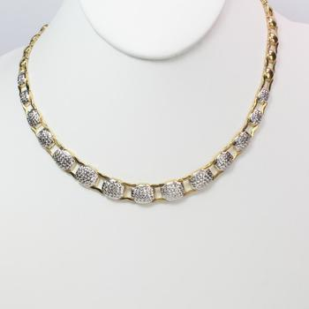 10k Two Tone Gold 17.32g Necklace