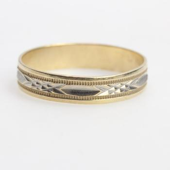 10k Two Tone Gold 2.16g Ring
