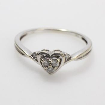 10k White Gold 1.46g Ring With Diamonds