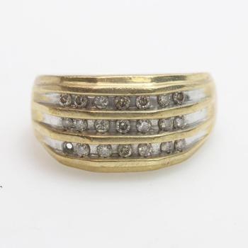 10kt GF 5.7g Diamond Ring
