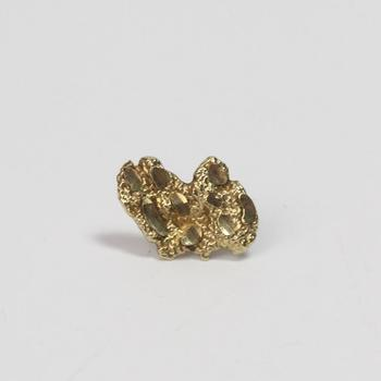 10kt Gold 0.73g Single Nugget Style Earring
