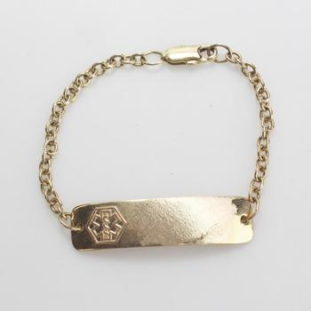 10kt Gold 12.66g Id Bracelet