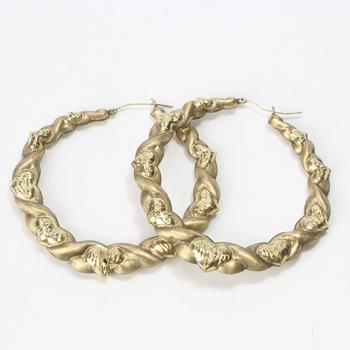 10kt Gold 16.7g Hoop Earrings