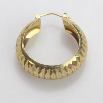 10kt Gold 2.56g Single Hoop Earring