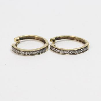 10kt Gold 3g Earrings With Diamonds