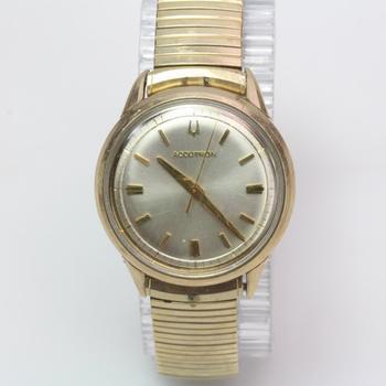 10kt Gold Filled Bezel Accutron Watch