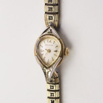 10KT Gold Plated Vintage Bulova Watch