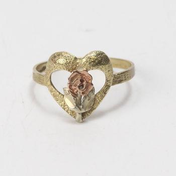 10kt Multi-toned Gold 1.4g Rose Ring