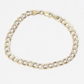 10kt Two-toned Gold 3g Bracelet