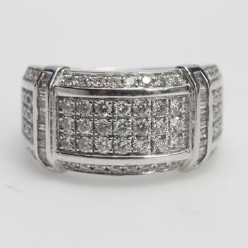 10kt White Gold 9.97g Ring With Diamond Accents