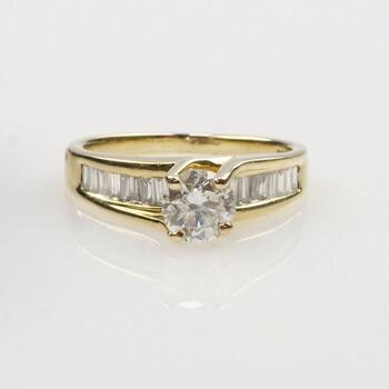 1.0tcw Diamond 14k Gold Ring - Evaluated by our Graduate Gemologist (GIA)