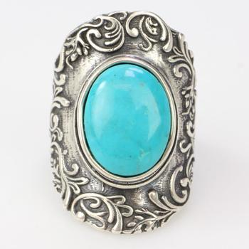 11.42g Silver Ring With Turquoise