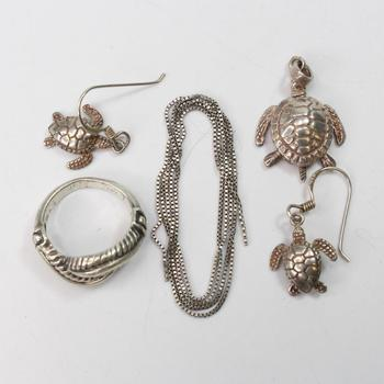 11.44g Silver Jewelry, 5 Pieces