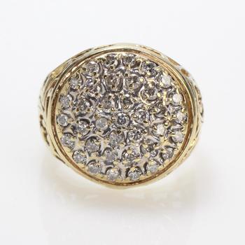 1.14ct TW Diamond 10k Gold Ring, 7.6g