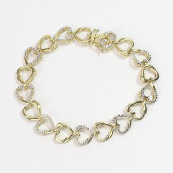 11.93g GP .880 Silver Bracelet With Clear Stones