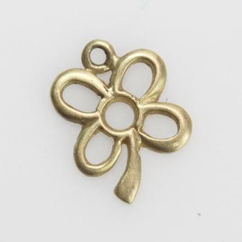 11kt Gold 0.75g Flower Shaped Pendant