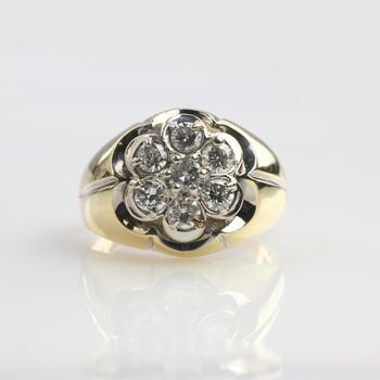 1.26ct TW Diamond 14k Gold Ring - Evaluated By Independent Specialist