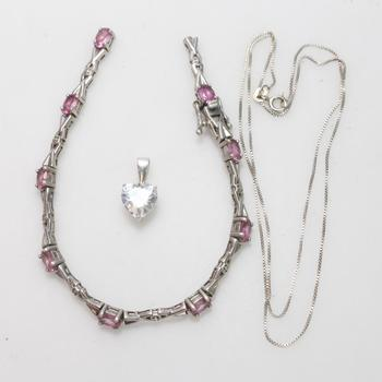 12.9g Silver Jewelry, 3 Pieces