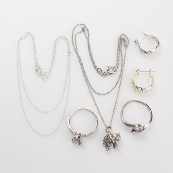 12g Silver Jewelry, 6 Pieces