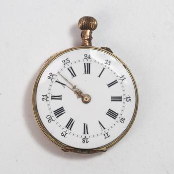 12k Gold Vintage Bornand Ladies Pocket Watch