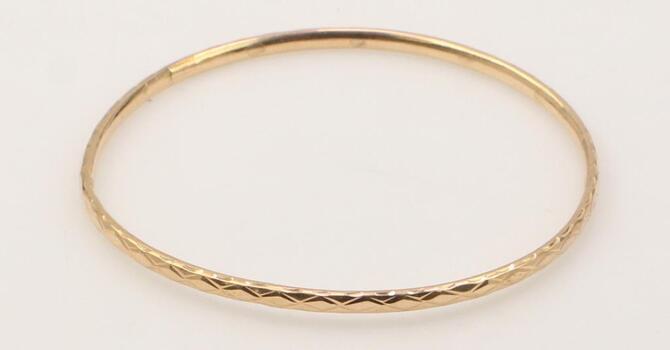 12k Rose Gold Bangle Bracelet