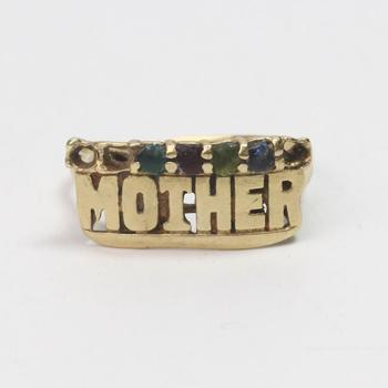 12kt Gold 3.13g 'Mother' Ring With Multicolored Stones