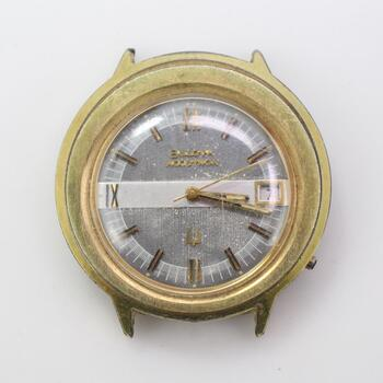 12kt GP Bulova Accutron Watch Face
