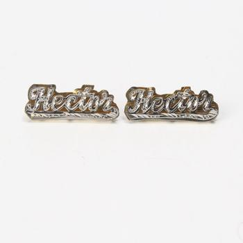 """12kt Two-toned Gold 5.5g """"Hector"""" Earrings"""