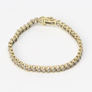 13k Gold 14.18g Bracelet With Diamonds